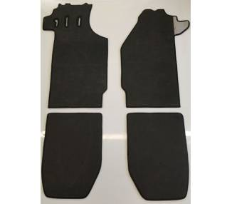 Carpet mats for Porsche 911 coupé F series short wheelbase from 1965-1968 (only LHD)