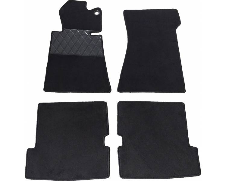 Carpet mats for Mercedes-Benz R107 SL Cabrio from 1971–1989 (LHD or RHD)