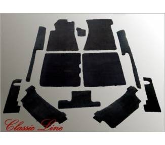 Complete interior carpet kit for Mercedes-Benz W107 SL (R107) 1971–1989 with jump seat (only LHD)