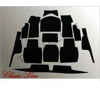 Complete interior carpet kit for BMW 501/502 V8 from 1954-1964 (only LHD)