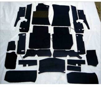 Complete interior carpet kit for Mercedes-Benz W116 SE from 1972-1980 (only LHD)