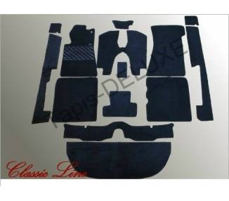 Complete interior carpet kit for Mercedes-Benz W107 SLC (C107) from 1971-1989 (only LHD)
