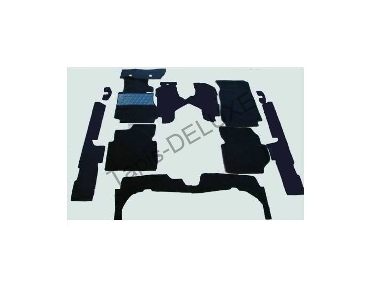 Complete interior carpet kit for Mercedes-Benz W123 limousine from 1975–1985 (only LHD)