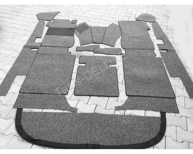 Complete interior carpet kit for Mercedes-Benz W110 with stic shift from 1961-1968 (only LHD)