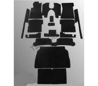 Complete interior carpet kit for Mercedes-Benz W107 SL (R107 Cabrio) without jump seat from 1971-1989 (only LHD)