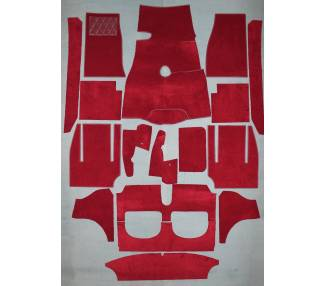 Complete interior carpet kit for Austin-Healey BT7 roadster - 3000 Mk II from 1961-1962 (only LHD)