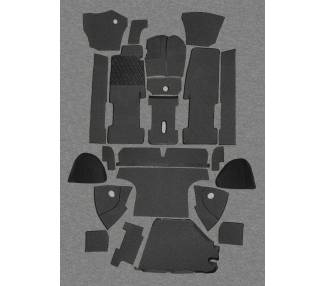 Complete interior carpet kit for BMW 1600 GT 1967-1968 with trunk (only LHD)