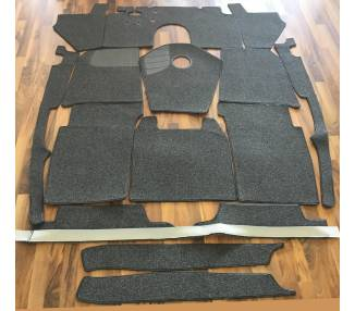 Complete interior carpet kit for Mercedes Benz 170S Cabriolet B W136 from 1949-1952 (only LHD)