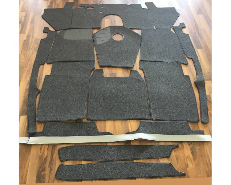 Complete interior carpet kit for Mercedes Benz 170S Cabriolet B W136 from 1936-1952 (only LHD)