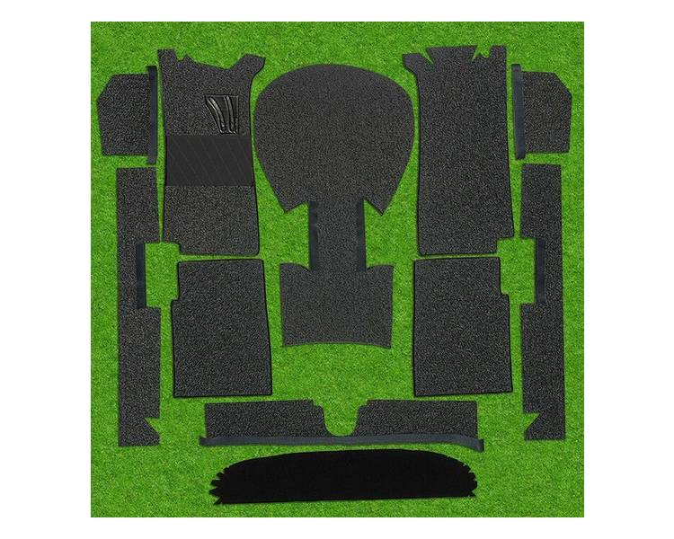 Complete interior carpet kit for BMW 1502 - 1602 - 1802 - 2002 ti and tii 1966-1977 (only LHD)