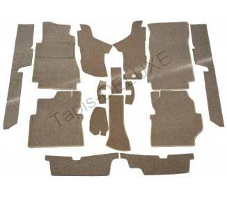 Complete interior carpet kit for Mercedes-Benz W123 CE coupé from 1977–1985 (only LHD)