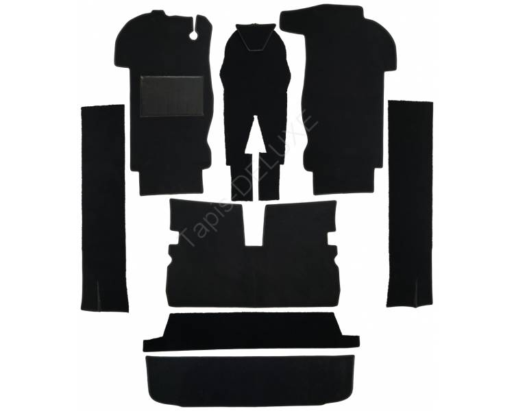 Complete interior carpet kit for Peugeot 204 cabriolet from 1966-1970 (only LHD)