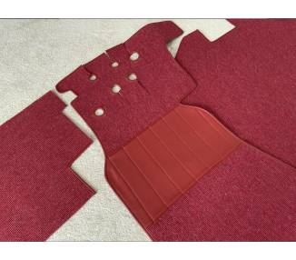 Complete interior carpet kit for Mercedes-Benz 190 SL W121 cabriolet from 1956–1962 (only LHD)