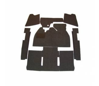 Complete interior carpet kit for VW 1300-1500 limousine 1965-1973 (only LHD)