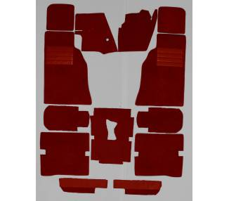 Complete interior carpet kit for Jaguar E-Type series 1 and 2 (2+2) coupé flat floor (only LHD)