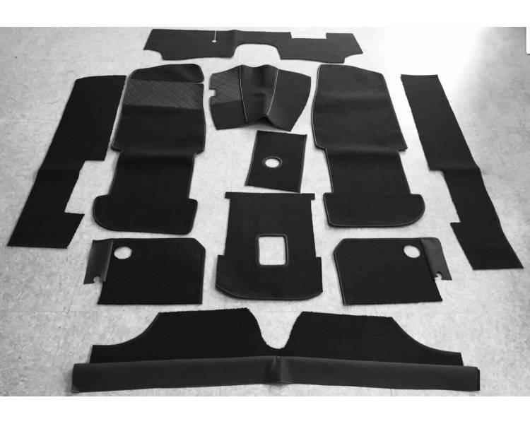 Complete interior carpet kit for BMW Glas 1300 + 1700 GT Cabrio 1964-1968 (only LHD)