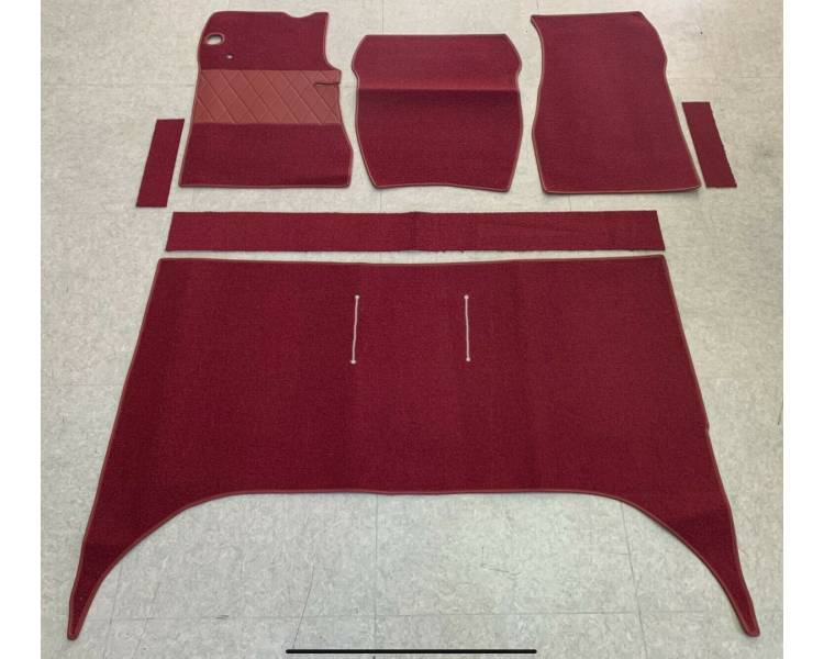 Complete interior carpet kit for Opel Rekord B 4-doors limousine with steering wheel shift from 08/1965–07/1966 (only LHD)