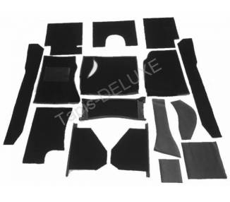 Complete interior carpet kit for Austin Healey 100 BN1 from 1952-1955 (only LHD)
