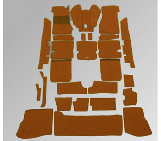 Complete interior carpet kit for Mercedes-Benz Pagode SL W113 1963-1971 automatic with jump seat (LHD+RHD)