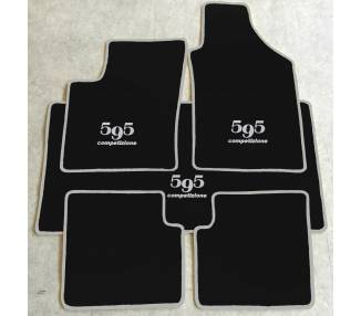 Tapis de sol et de coffre pour Fiat 595 competizione et Abarth à partir de 2007