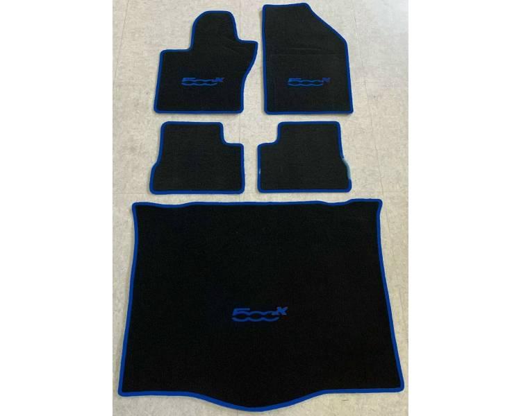 Tapis de sol et de coffre pour Fiat 500X type 334 à partir de 2014