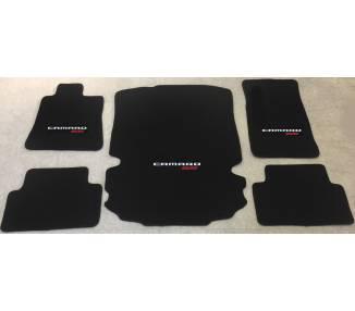 Tapis de sol et de coffre pour Chevrolet Camaro Cabrio +SS+RS à partir de 2016