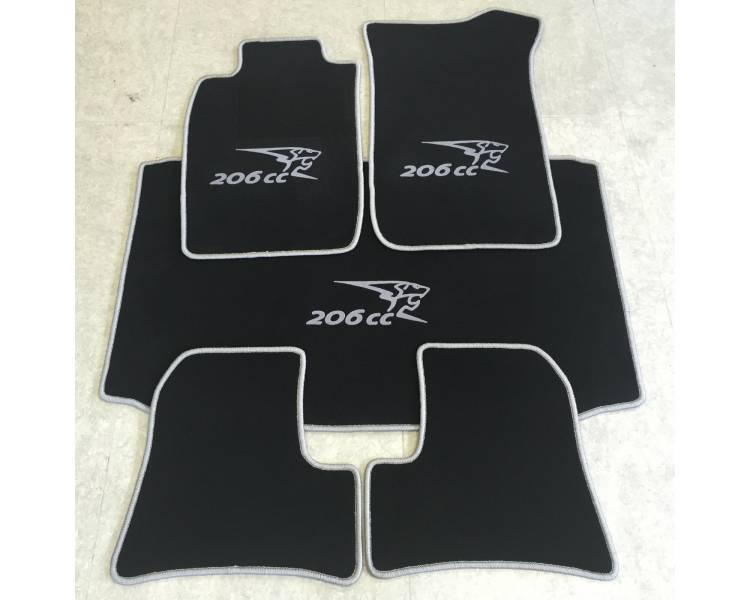 Tapis de sol et de coffre pour Peugeot 206 CC 2000-2008
