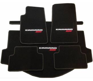 Tapis de sol et de coffre pour Chevrolet Camaro Cabrio RS et SS 2010-2015