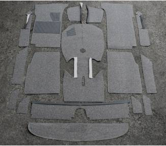 Complete interior carpet kit for BMW 1500 - 1600 Typ E1 1961-1966 (only LHD)
