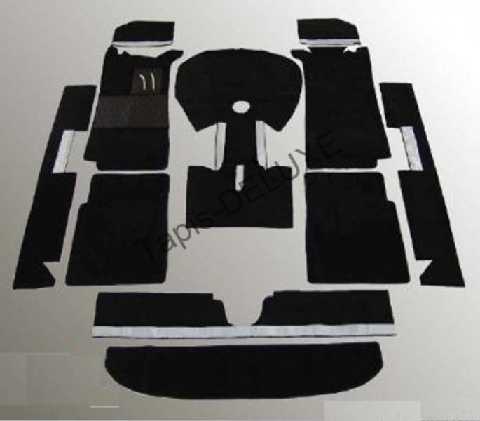 tapis de restauration noir bmw 1502 1602 1802 2002. Black Bedroom Furniture Sets. Home Design Ideas